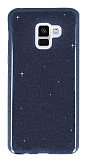 Eiroo Silvery Samsung Galaxy J4 Simli Siyah Silikon Kılıf