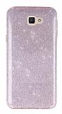 Eiroo Silvery Samsung Galaxy J5 Prime Pembe Silikon Kılıf