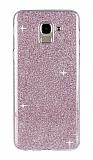 Eiroo Silvery Samsung Galaxy J6 Plus Simli Pembe Silikon Kılıf