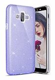 Eiroo Silvery Samsung Galaxy J7 Duo Simli Mor Silikon Kılıf