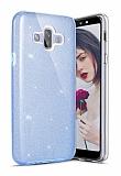 Eiroo Silvery Samsung Galaxy J7 Duo Simli Mavi Silikon Kılıf