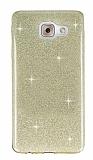 Eiroo Silvery Samsung Galaxy J7 Max Simli Gold Silikon Kılıf