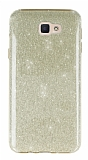 Eiroo Silvery Samsung Galaxy J7 Prime Gold Silikon Kılıf