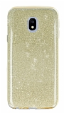 Eiroo Silvery Samsung Galaxy J7 Pro 2017 Simli Gold Silikon Kılıf