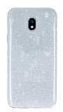 Eiroo Silvery Samsung Galaxy J7 Pro 2017 Simli Silver Silikon Kılıf