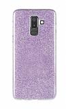Eiroo Silvery Samsung Galaxy J8 Simli Mor Silikon Kılıf