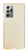 Eiroo Silvery Samsung Galaxy Note 20 Ultra Simli Gold Silikon Kılıf