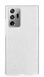 Eiroo Silvery Samsung Galaxy Note 20 Ultra Simli Silver Silikon Kılıf