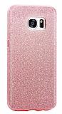 Eiroo Silvery Samsung Galaxy Note 5 Pembe Silikon Kılıf