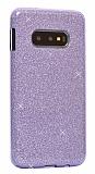 Eiroo Silvery Samsung Galaxy S10 Simli Mor Silikon Kılıf