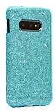 Eiroo Silvery Samsung Galaxy S10 Simli Mavi Silikon Kılıf