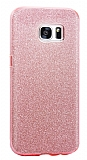 Eiroo Silvery Samsung Galaxy S7 Pembe Silikon Kılıf