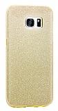Eiroo Silvery Samsung Galaxy S7 Gold Silikon Kılıf