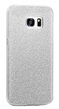 Eiroo Silvery Samsung Galaxy S7 Silver Silikon Kılıf