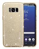 Eiroo Silvery Samsung Galaxy S8 Plus Gold Silikon Kılıf