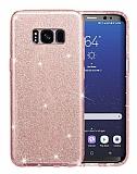 Eiroo Silvery Samsung Galaxy S8 Plus Pembe Silikon Kılıf