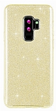 Eiroo Silvery Samsung Galaxy S9 Plus Simli Gold Silikon Kılıf