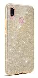 Eiroo Silvery Xiaomi Redmi 7A Simli Gold Silikon Kılıf