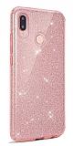 Eiroo Silvery Xiaomi Redmi 7A Simli Pembe Silikon Kılıf