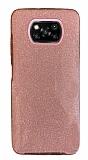Eiroo Silvery Xiaomi Poco X3 / Poco X3 Pro Simli Pembe Silikon Kılıf