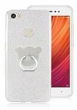 Eiroo Silvery Xiaomi Redmi Note 5A / 5A Prime Simli Selfie Yüzüklü Silver Silikon Kılıf