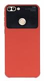 Eiroo Simplified Huawei P Smart Kırmızı Silikon Kılıf