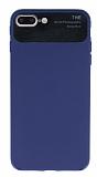 Eiroo Simplified iPhone 7 Plus / 8 Plus Lacivert Silikon Kılıf