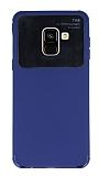 Eiroo Simplified Samsung Galaxy A8 Plus 2018 Lacivet Silikon Kılıf