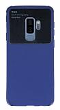 Eiroo Simplified Samsung Galaxy S9 Plus Lacivert Silikon Kılıf