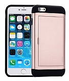 Eiroo Sliding Card iPhone SE / 5 / 5S Ultra Koruma Rose Gold Kılıf