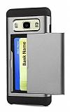 Eiroo Sliding Card Samsung Galaxy J7 Ultra Koruma Dark Silver Kılıf