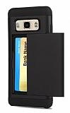 Eiroo Sliding Card Samsung Galaxy J7 Ultra Koruma Siyah Kılıf