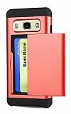 Eiroo Sliding Card Samsung Galaxy J7 Ultra Koruma Kırmızı Kılıf