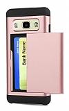 Eiroo Sliding Card Samsung Galaxy J7 Ultra Koruma Rose Gold Kılıf