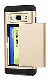 Eiroo Sliding Card Samsung Galaxy J7 Ultra Koruma Gold Kılıf