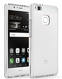 Eiroo Slim Hybrid Huawei P9 Lite Silikon Kenarlı Şeffaf Rubber Kılıf