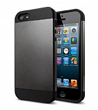 Eiroo Slim Power iPhone 4 / 4S Dark Silver K�l�f