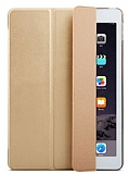 Eiroo Smart Apple iPad Pro 12.9 Gold Deri K�l�f