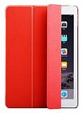 Eiroo Smart Apple iPad Pro 12.9 Kırmızı Deri Kılıf