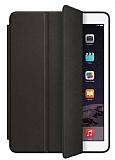 Eiroo Smart Apple iPad Pro 12.9 Siyah Deri Kılıf