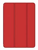 Eiroo Smart iPad 2 / 3 / 4 Kapaklı Kırmızı Deri Kılıf