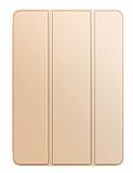 Eiroo Smart iPad 2 / 3 / 4 Kapaklı Gold Deri Kılıf