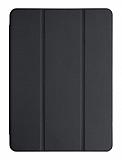 Eiroo Smart iPad 2 / 3 / 4 Kapaklı Siyah Deri Kılıf