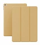 Eiroo Smart iPad mini 4 Kapaklı Gold Deri Kılıf