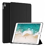 Eiroo Smart iPad Pro 10.5 Kapaklı Siyah Deri Kılıf