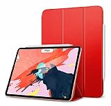 Eiroo Smart iPad Pro 12.9 2018 Kapaklı Kırmızı Deri Kılıf
