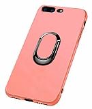 Eiroo Smug iPhone 7 Plus / 8 Plus Selfie Yüzüklü Rose Gold Kılıf