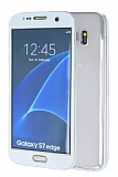 Eiroo Smart Touch Samsung Galaxy S7 Edge Tam Koruma Beyaz Silikon K�l�f