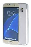Eiroo Smart Touch Samsung Galaxy S7 Edge Tam Koruma Gold Silikon K�l�f
