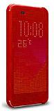 Eiroo Dot View HTC Desire 820 Uyku Modlu Kırmızı Kılıf